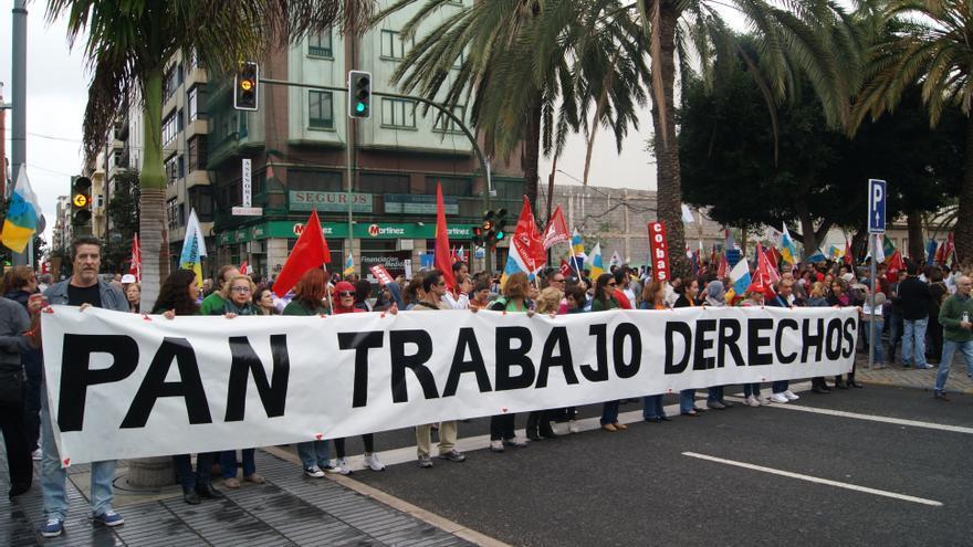 Marcha por la Dignidad en Las Palmas de Gran Canaria
