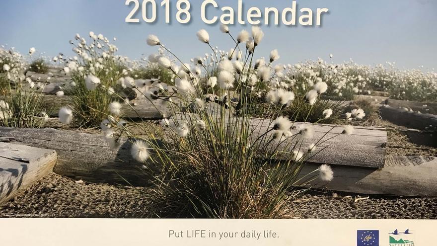 Una foto de la turbera de Zalama será la portada del calendario oficial de los programas LIFE+ de 2018