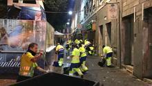 Efectivos del servicio de limpieza de Las Palmas de Gran Canaria.