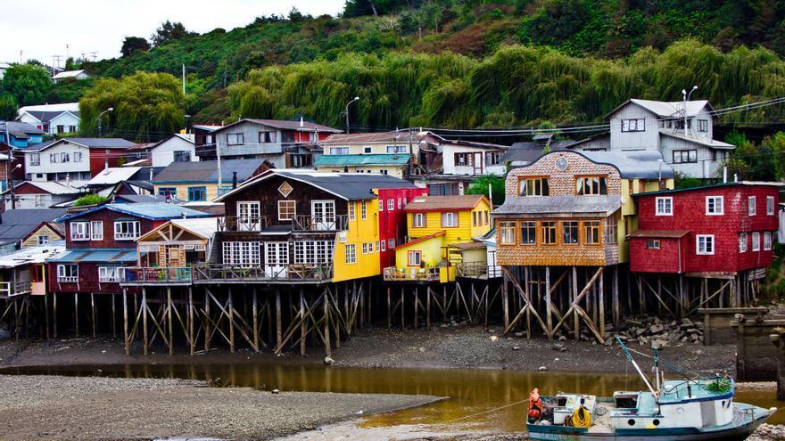 Palafitos en Castro, capital de la isla chilena de Chiloé. VIAJAR AHORA