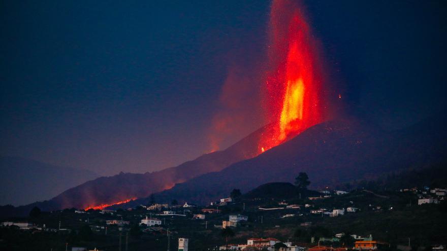 El volcán de Cumbre Vieja en La Palma.