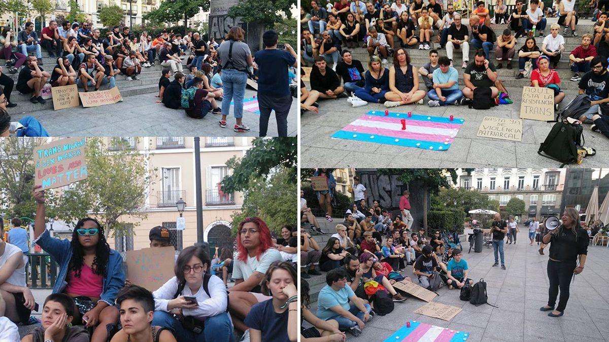 Concentración en la Plaza de Pedro Zerolo por el asesinato de Paloma Barreto | OCTUBRE TRANS
