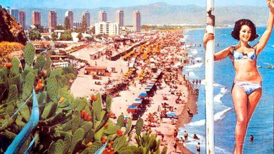 Bienvenidos a Torremolinos. Postal Costa del Sol   Torremolinos Chic