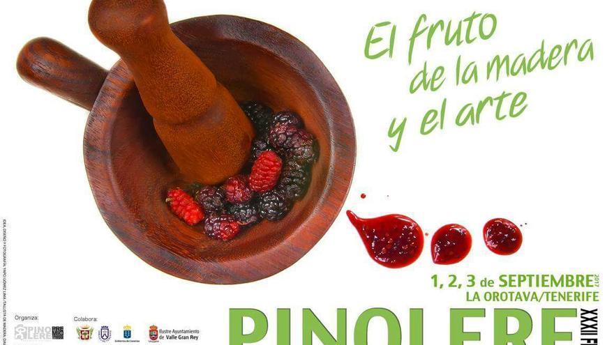 Cartel de la muestra de 2017, en el barrio de Pinolere, altos de La Orotava