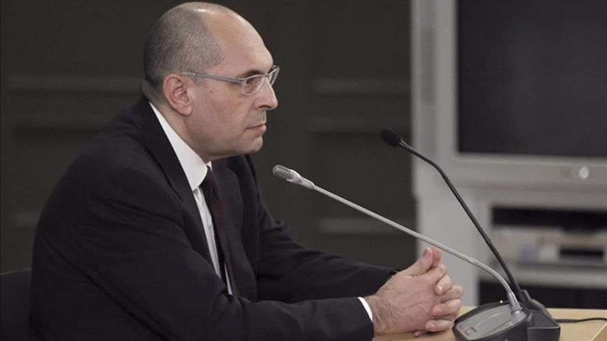 El juez Elpidio Silva durante la vista celebrada en mayo en el Tribunal Superior de Justicia de Madrid
