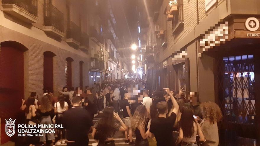 Imagen de anoche de la calle San Gregorio.