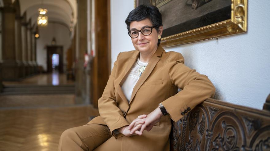 La ministra de Asuntos Exteriores, Unión Europea y Cooperación, Arancha González Laya, en la sede del Ministerio