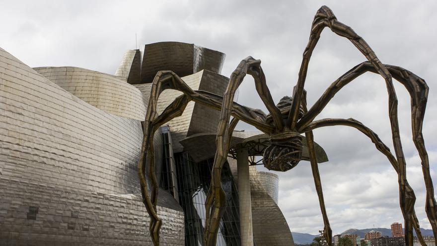 Mamá, del artista Bourgeois, uno de los iconos del Guggenheim bilbaíno.