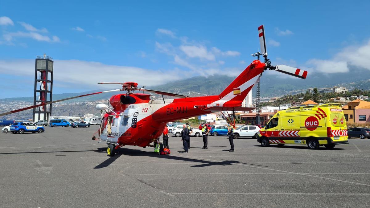 Helicóptero del GES. (112 Canarias)