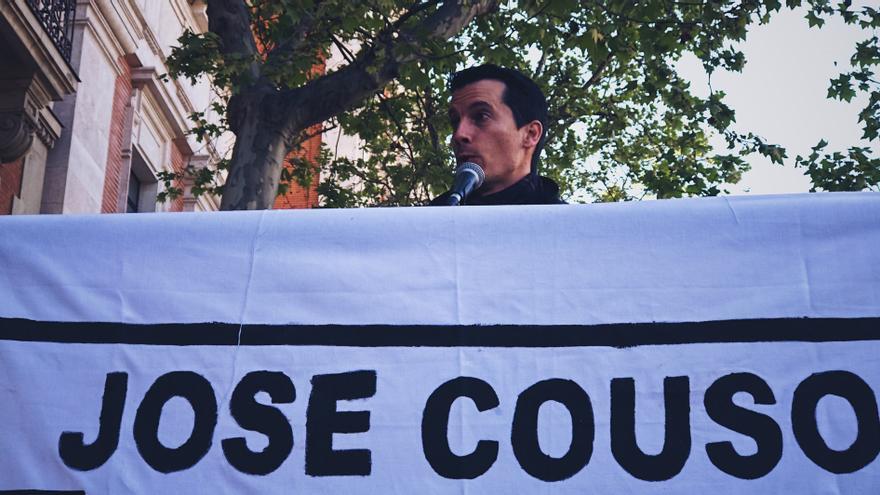 Luis Gonzalo Segura en la manifestación en recuerdo a José Couso