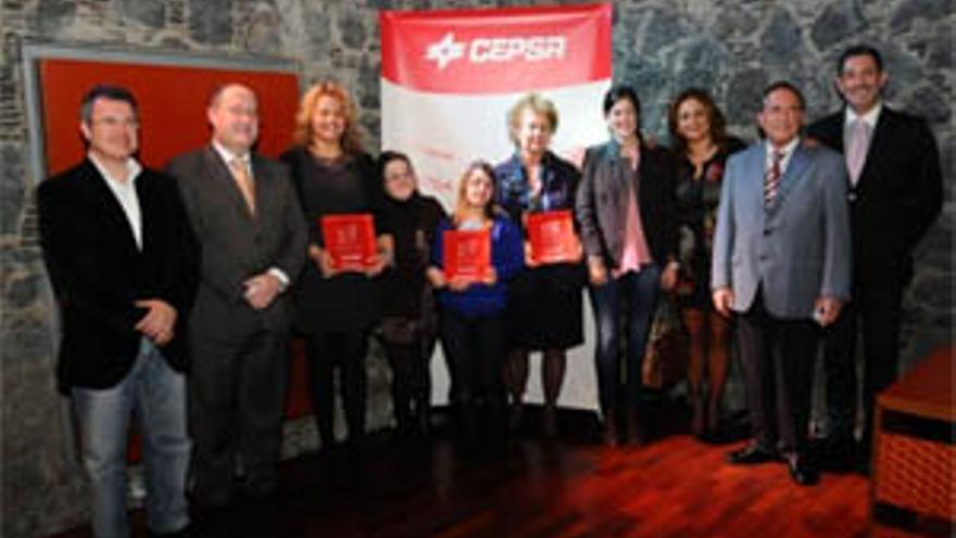 Acto de entrega de los III Premios Cepsa al Valor Social en Tenerife.