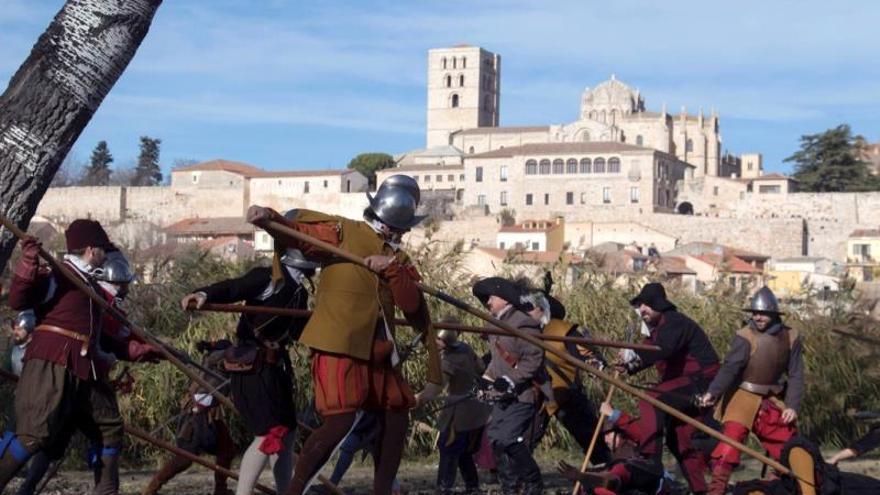 Recrean una batalla del siglo XVI ganada a Holanda con tropas zamoranas