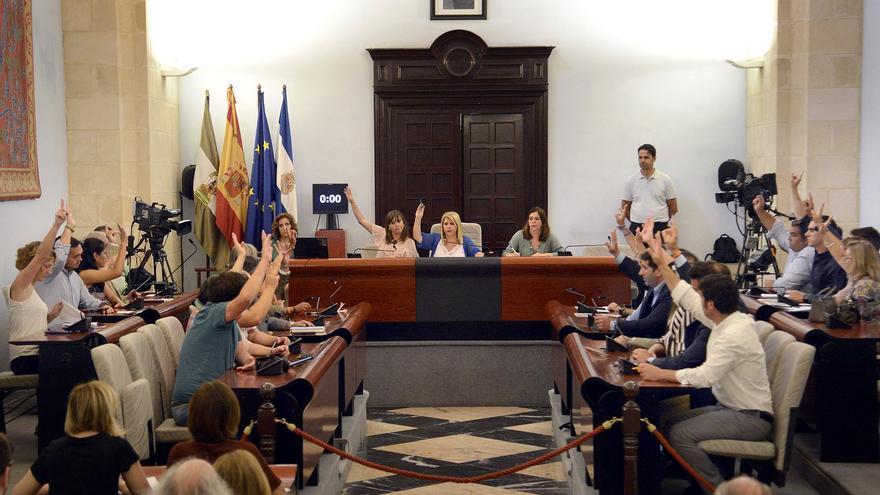 Votación en la Sesión Extraordinaria de Pleno en Jerez.