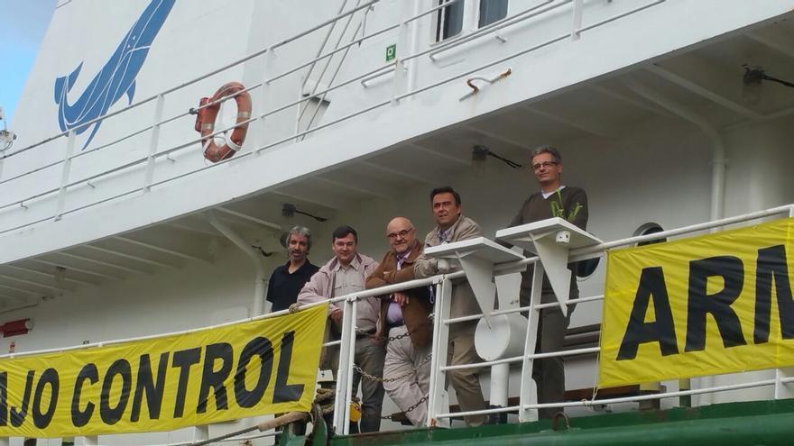 Amnistía Internacional, Oxfam Intermón, Greenpeace y Fundipau en la presentación del nuevo informe de la campaña Armas Bajo Control