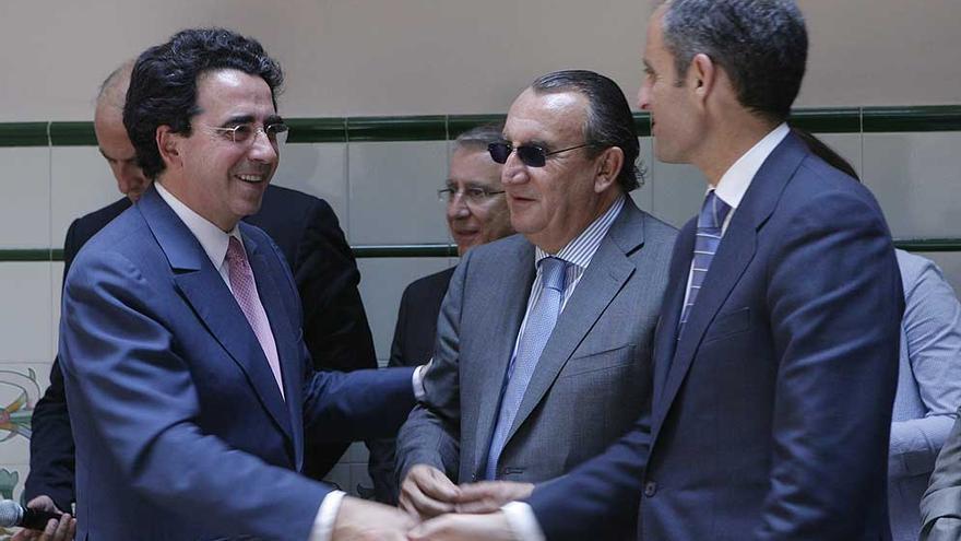 Santiago Calatrava, Carlos Fabra y Francisco Camps.