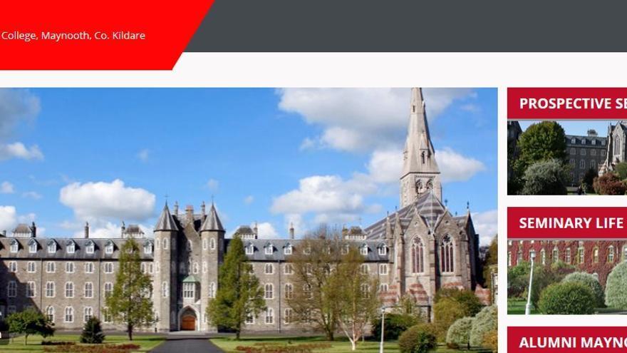 Captura de pantalla de la web del St Patrick's College