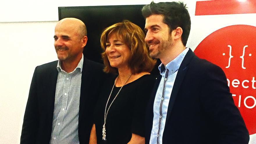 Ignacio Corrales, Sonia Martínez y Nacho Manubens en Conecta FICTION