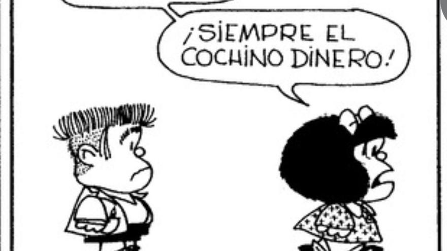 Mafalda y la relación con el dinero