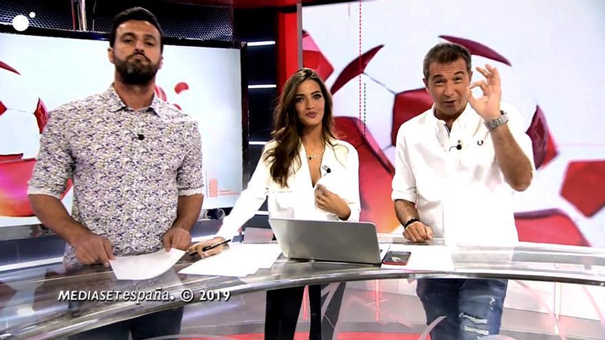 """Kiko Narváez, Sara Carbonero y Manu Carreño en """"Deportes Cuatro"""""""