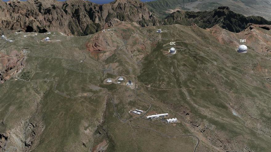 En la imagen se indica el lugar donde se emplazaría el TMT.