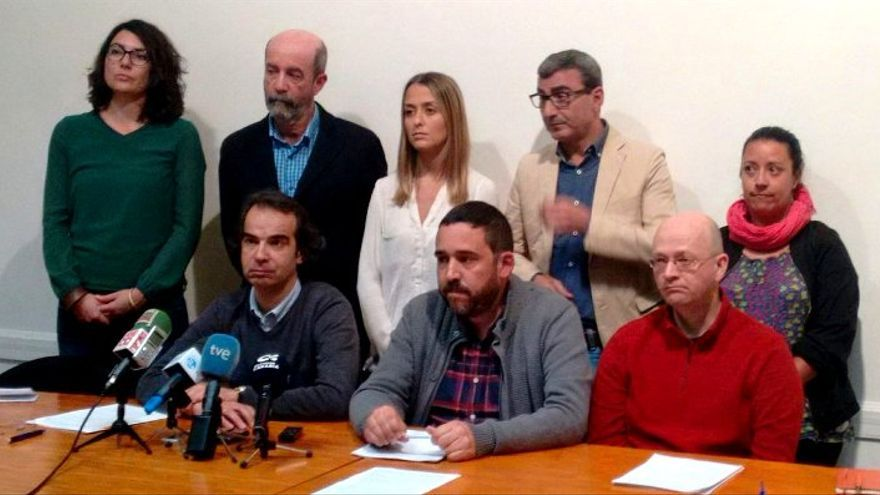 Concejales de los grupos que han pedido agilidad al alcalde en la convocatoria del pleno cancelado