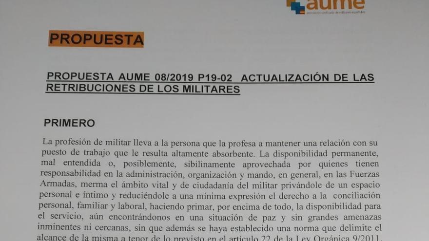 Párrafo en una de los informes de Aume que desató la reacción de los representantes de la asociación de oficiales.