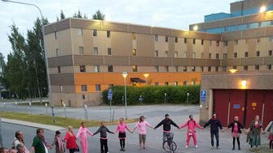 Protesta antimilitarista en Suecia. (antimilitaristas.org)