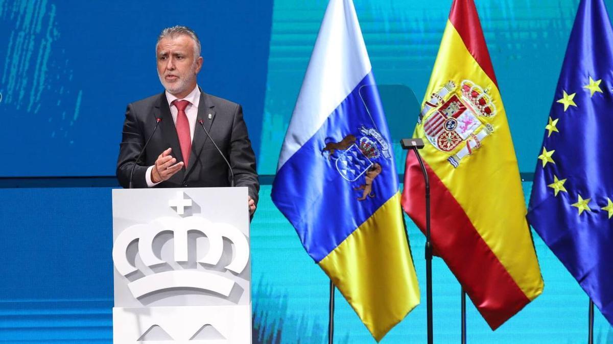 El presidente de Canarias, Ángel Víctor Torres, en el acto por el Día de Canarias.
