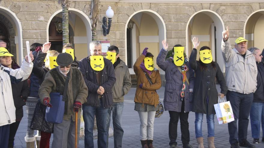 Concentración en la provincia de Cádiz contra las ordenanzas municipales