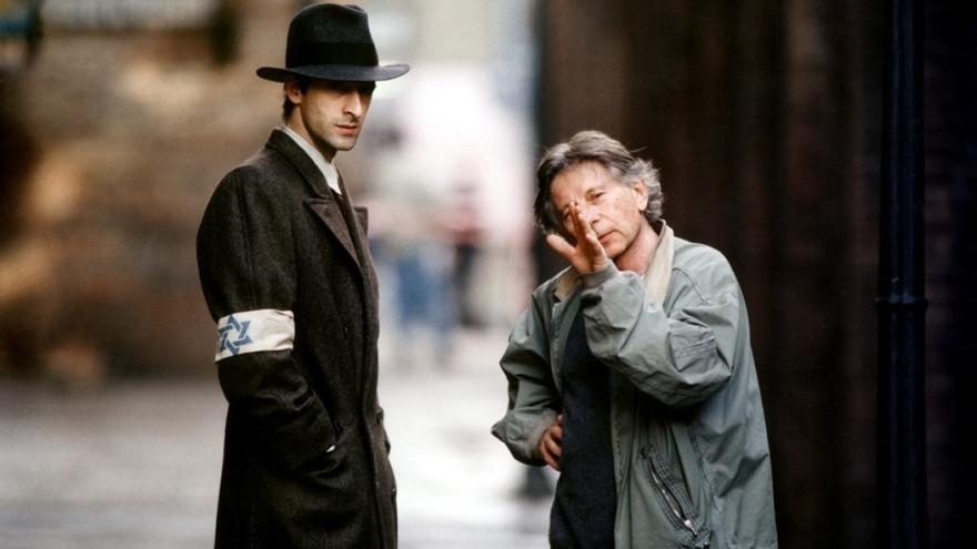 Polanski con Adrien Brody en el rodaje de 'El pianista'