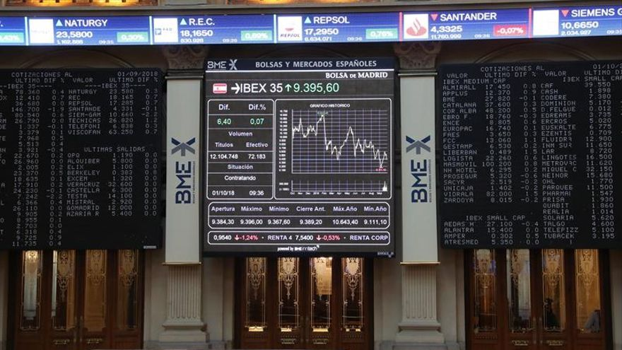 La Bolsa española abre con pérdidas del 0,60 por ciento, pendiente de Italia