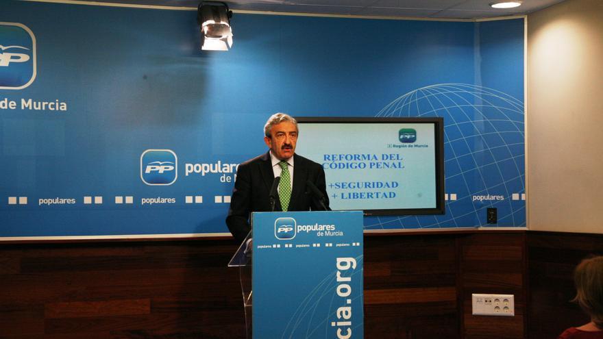 El diputado nacional del PP por la Región de Murcia, Andrés Ayala