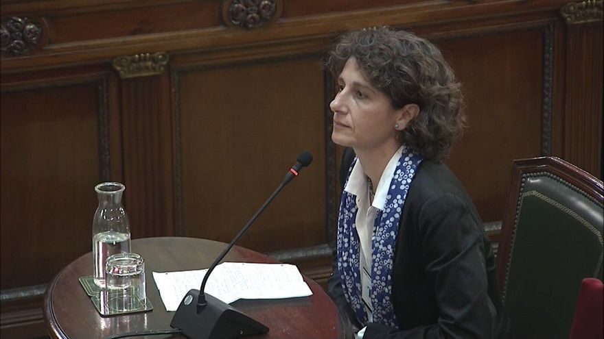 Marina Garcés, en el juicio del 1-O