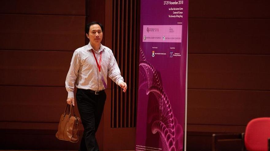 El científico chino defiende la efectividad de su estudio de modificación genética