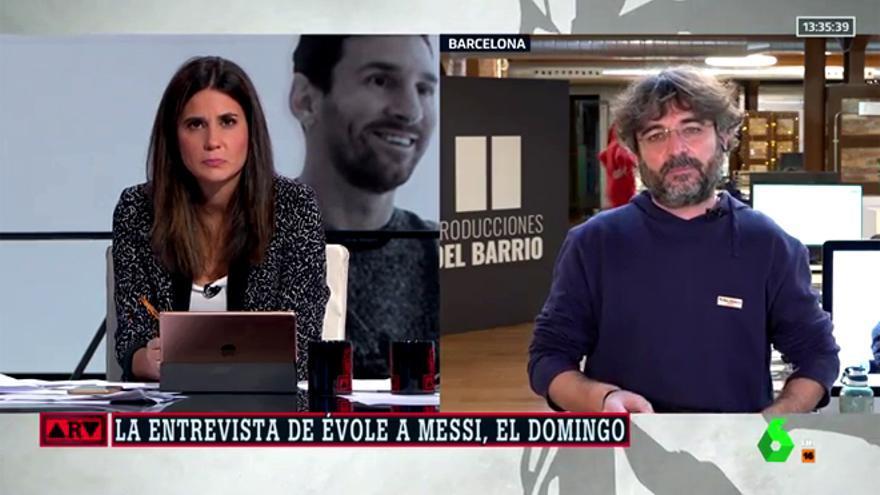 Évole en 'Al Rojo Vivo' con María Llapart