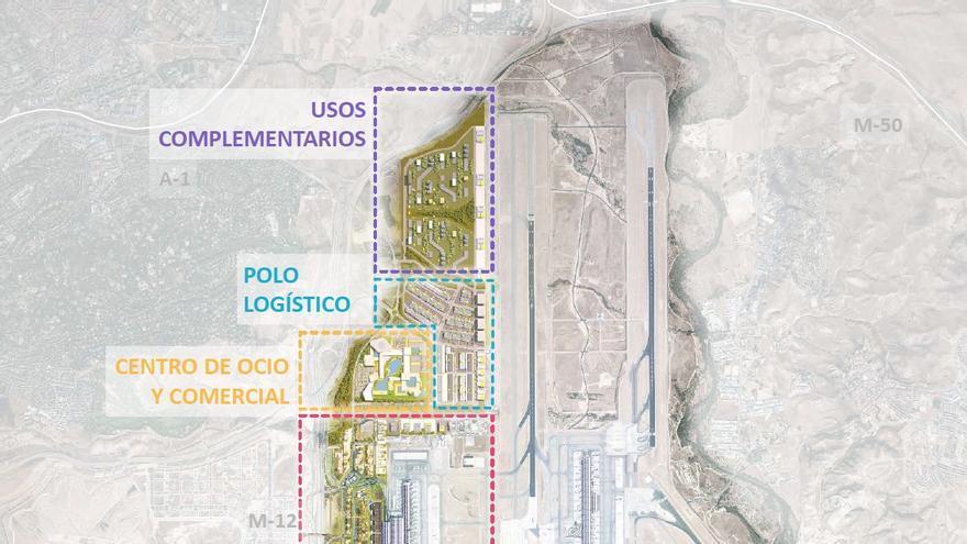 El plano de Fomento sobre el Plan Inmobiliario Madrid-Barajas.