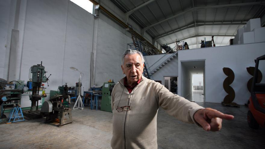 Andreu Alfaro al seu estudi. Foto: Jesús Císcar