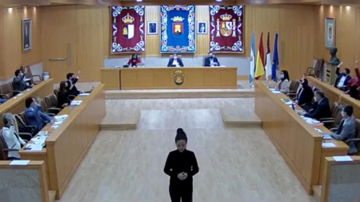 Momento de la votación en el pleno