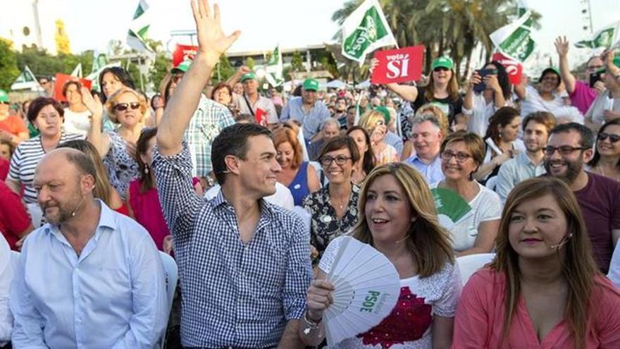 Mitin de Pedro Sánchez y Susana Díaz del cierre de la campaña del 26J en Sevilla.