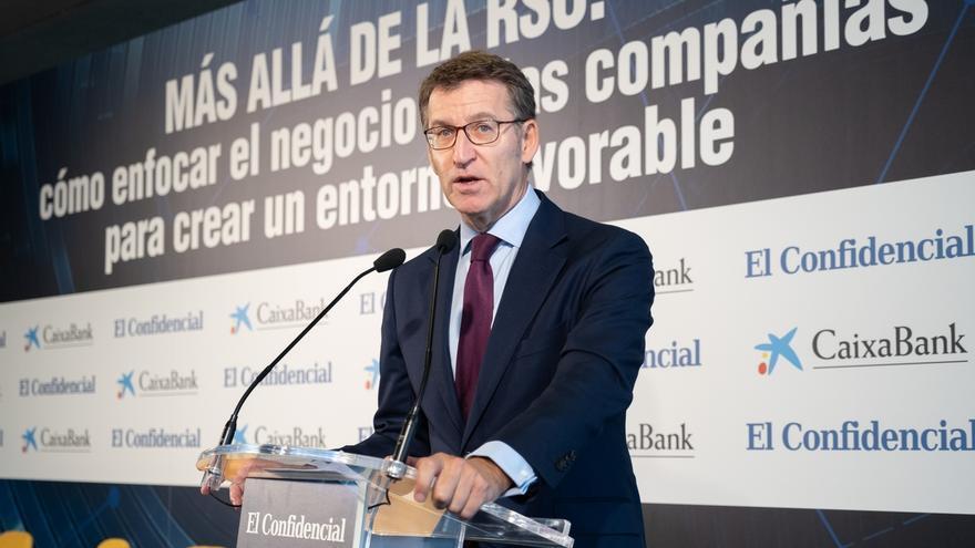 """Feijóo advierte a los independentistas catalanes que no van """"a tumbar a una nación soberana"""" con sus protestas"""