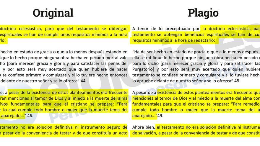 Cotejo del artículo de Sánchez Domingo con la tesis doctoral de Carlos Polanco.