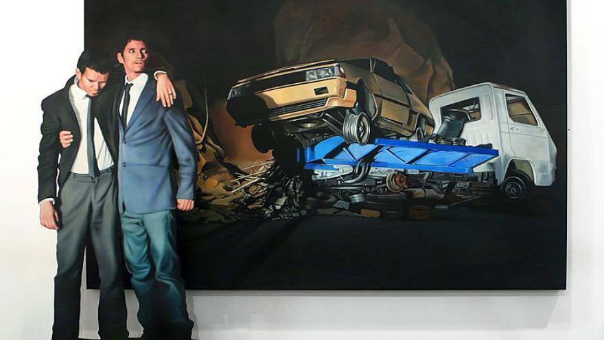 Una de las obras de la exposición 'Dime quién soy y te diré quién eres' de José Arturo Martín y Javier Sicilia