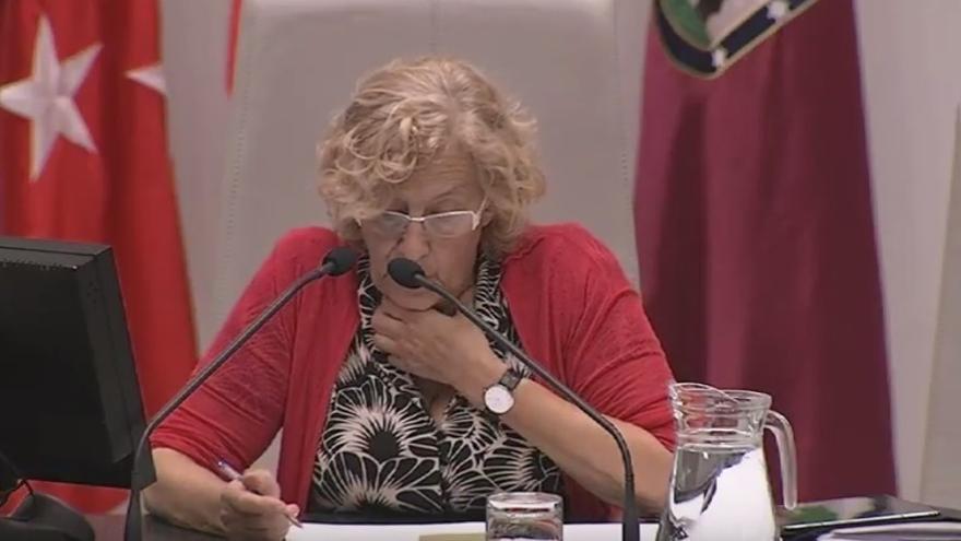 """Carmena defiende la política internacional del Ayuntamiento y sus efectos en la ciudad: """"Madrid está donde debe estar"""""""