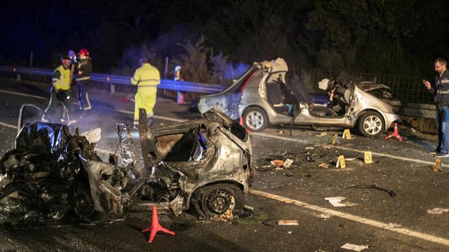 Dos muertos en un accidente de tráfico en el corredor Nadela-Monforte (Lugo)