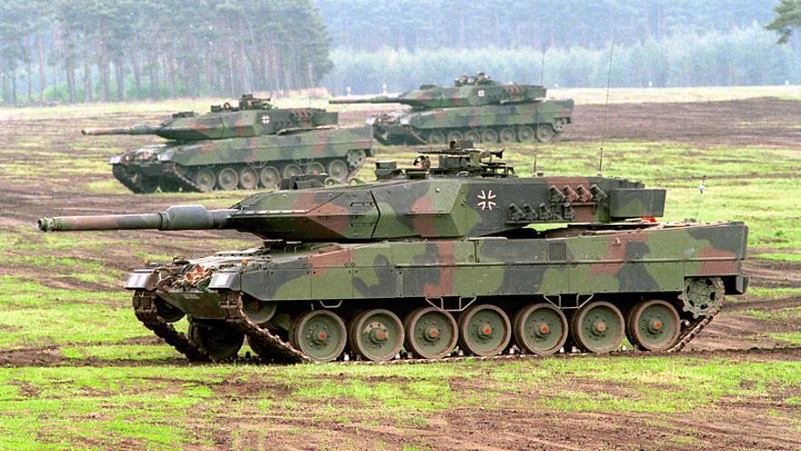 Un modelo alemán de tanque Leopard 2 similar a los que España pretende vender a Arabia Saudí (Bundeswehr/Modes)