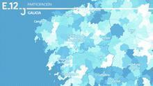 MAPA | Consulta los datos de participación a las 12h en Galicia, municipio a municipio