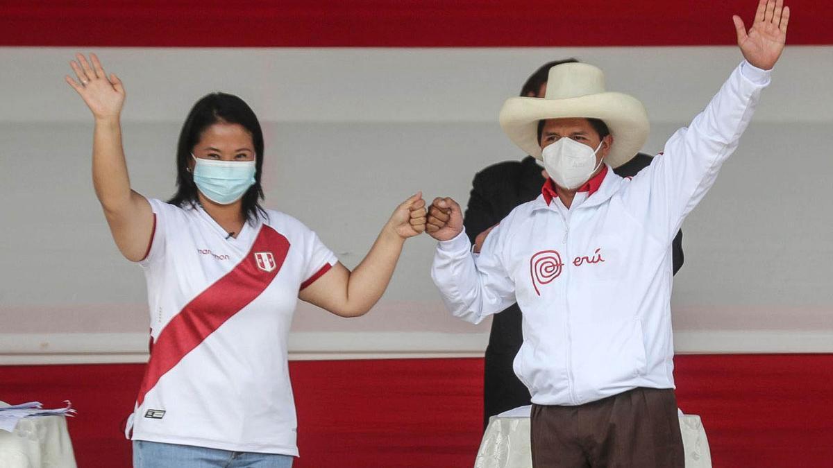 Los candidatos a la presidencia de Perú: Keiko Fujimori y Pedro Castillo