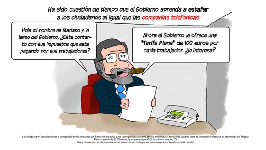 La tarifa plana de Rajoy