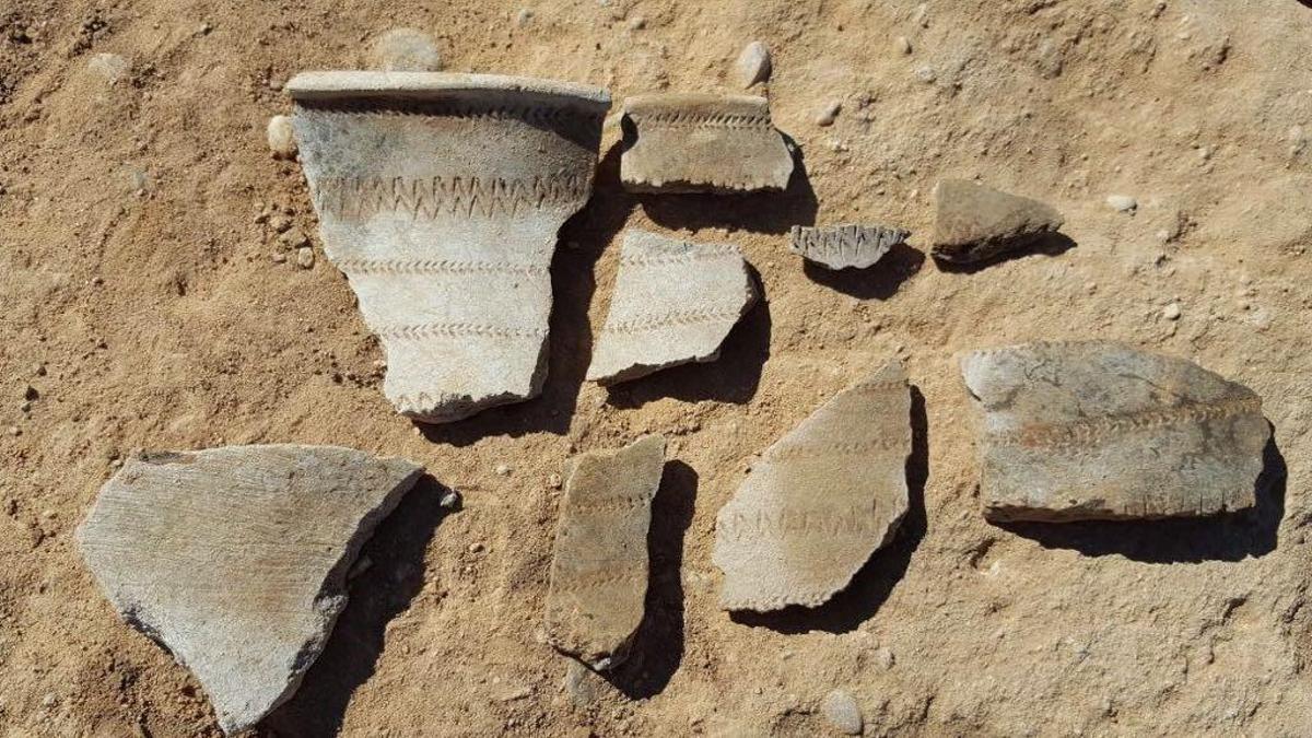 Restos arqueológicos encontrados en unas obras de la inmologística Montepino