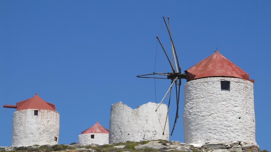 Molinos de viento en Chora. Susanne Tofern (CC)